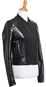 Fifteen Twenty Cropped Leather Moto Leather Jacket