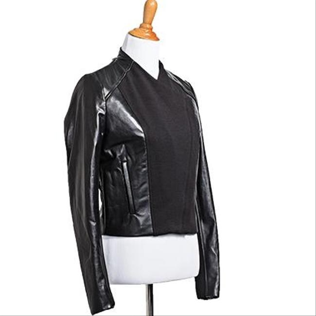 Fifteen Twenty Cropped Leather Moto Summer Leather Colorblock Asymmetric Leather Jacket