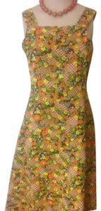 Floral Yellow, Orange, Browns Maxi Dress by
