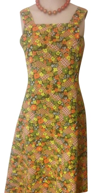 Floral Yellow, Orange, Browns Maxi Dress by Other