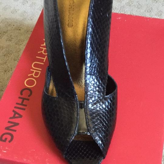 Arturo Chiang Black/Summer Snake Pumps