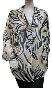 Alfred Dunner Piece Chiffon Top Multi-Color