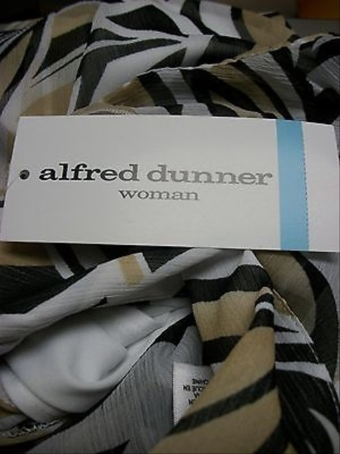 Alfred Dunner Piece Chiffon Button Beaded Tank Set 20w Top Multi-Color