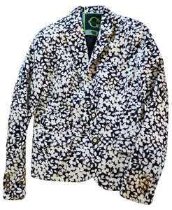 C. Wonder Floral Print Printed Workwear Jacket Printed Jacket Floral-print blue and white Blazer
