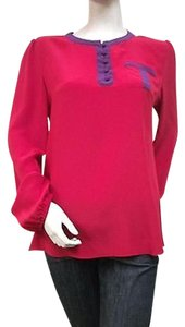 By Smith Silk Belleville Top Red