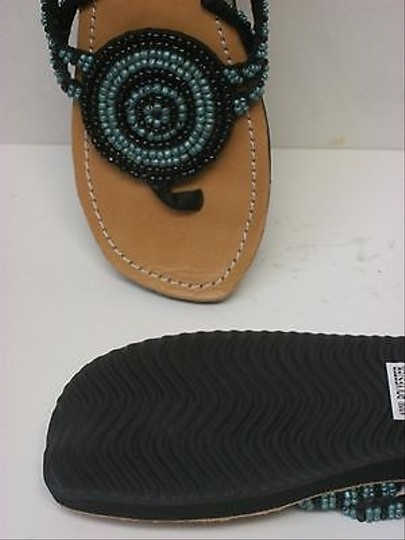 Other Meeka Beaded Flip Flops With Bag black blue Sandals
