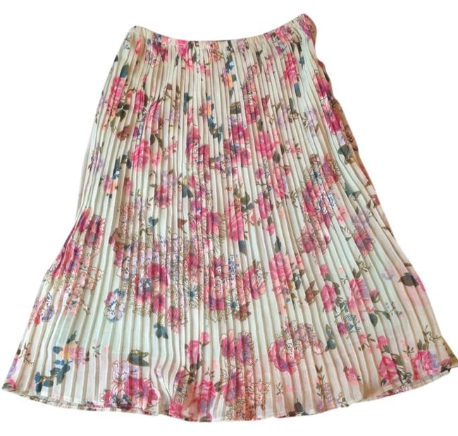 Jennifer & Grace Skirt Mint Green Floral Pink