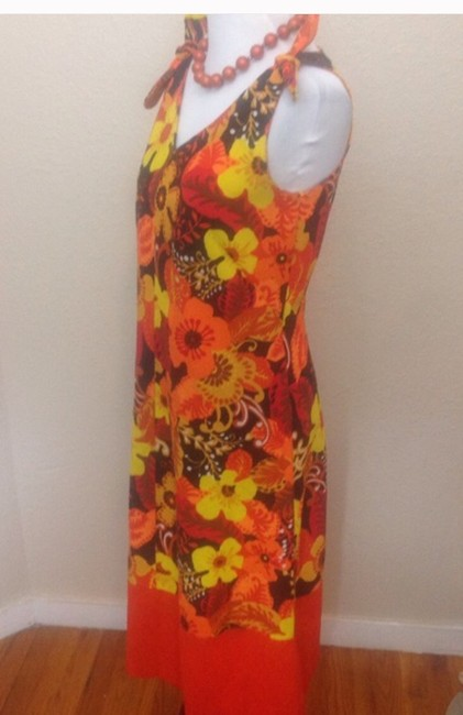 Orange Multi Maxi Dress by Other