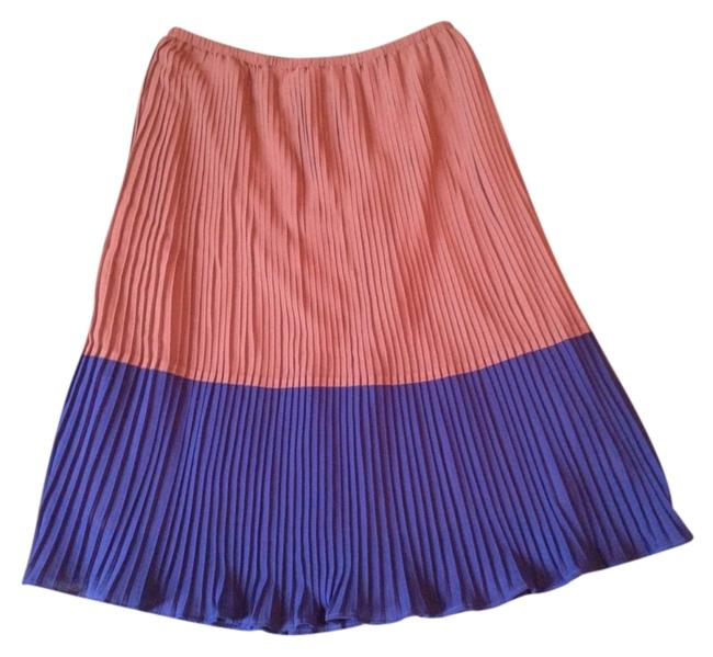 Jennifer & Grace Skirt Sand Tan Natural Navy Royal Blue