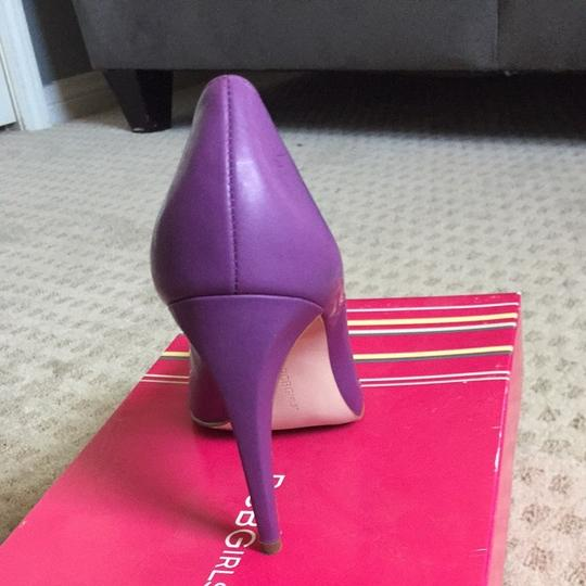 BCBGeneration Crystal Purple Water Patent Pumps