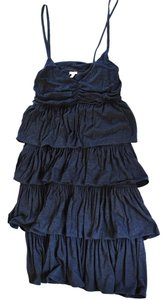 J.Crew short dress Navy Knit Ruffle on Tradesy
