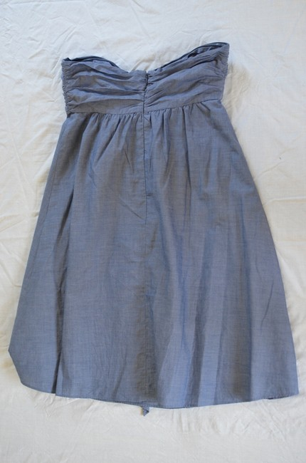 J.Crew Strapless Chambray Fabric Flower Empire Waist Dress