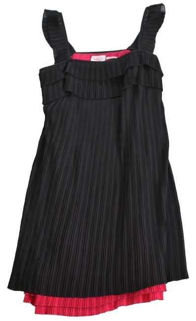 Juicy Couture Cocktail Pink Lining Contrast Lining Sleeveless And Pink Accordion Pleats Dress