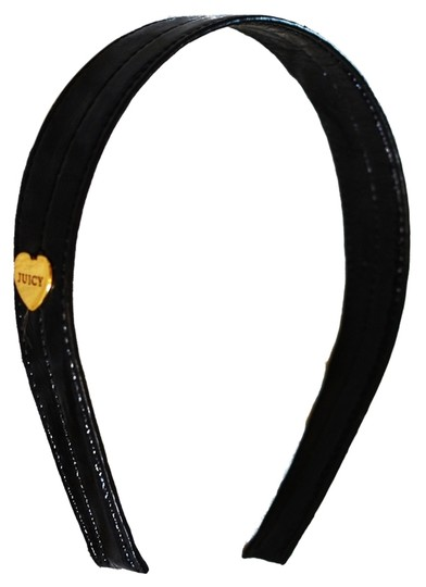 Juicy Couture Black Leather Headband