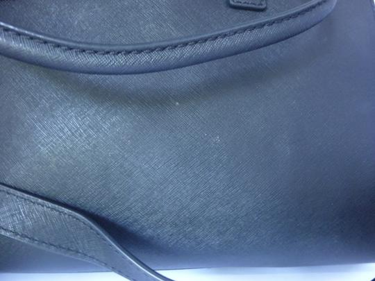 Michael Kors Leather Gold Hardware Tote in Black