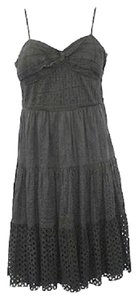 Maxi Dress by INC International Concepts Black Cotton Eyelet