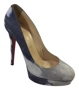 Christian Louboutin Grey Bottom Suede Black/Grey Platforms