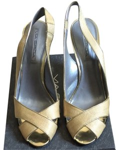 Via Spiga Gold Wedges