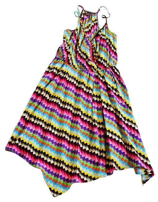 Charlie jade Rainbow Multi Multicolor Printed Party Colorful Geometric Print Dress