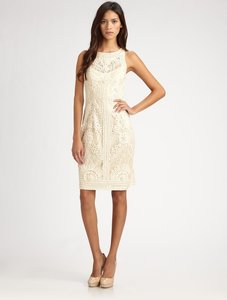 Sue Wong Beige Sue Wong Soutache Lace Dress Dress