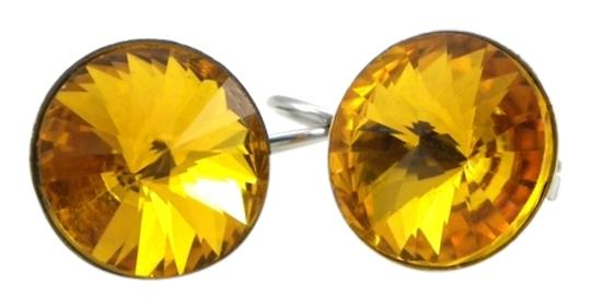 Other November birthday stone Yellow Crystal Rivoli Lever back Earring Image 0