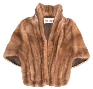 VINTAGE MINK FUR Shrug Cape