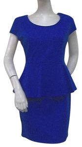 Kensie Bright Cobalt Cap Dress