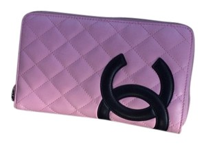 Chanel Chanel Cambon Ex Large Calfskin Zippy Pink CC Wallet
