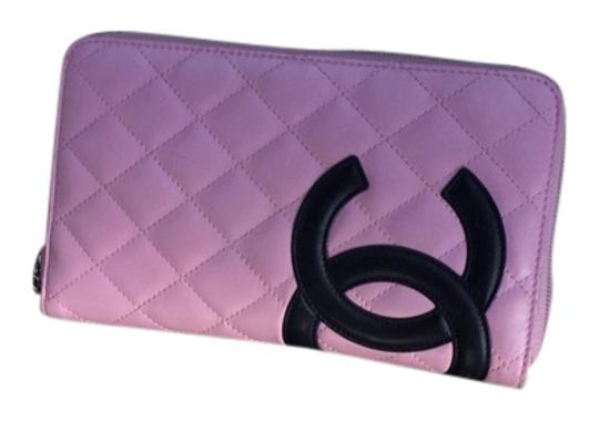 Preload https://item3.tradesy.com/images/chanel-pink-with-black-cc-cambon-ex-large-calfskin-zippy-wallet-3274372-0-0.jpg?width=440&height=440
