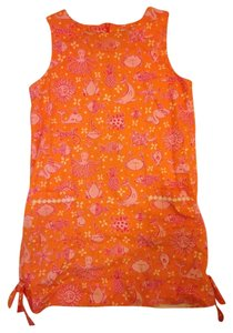 Lilly Pulitzer short dress Orange And Pink Summer Printed on Tradesy