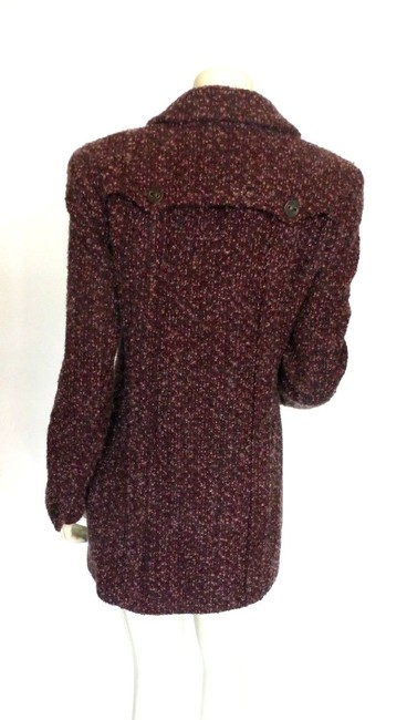 Chanel Wool Boucle Mohair Burgundy Jacket