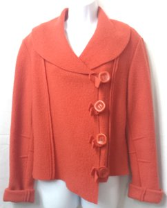 EVA TRALALA Paris Felted Wool ORANGE Jacket