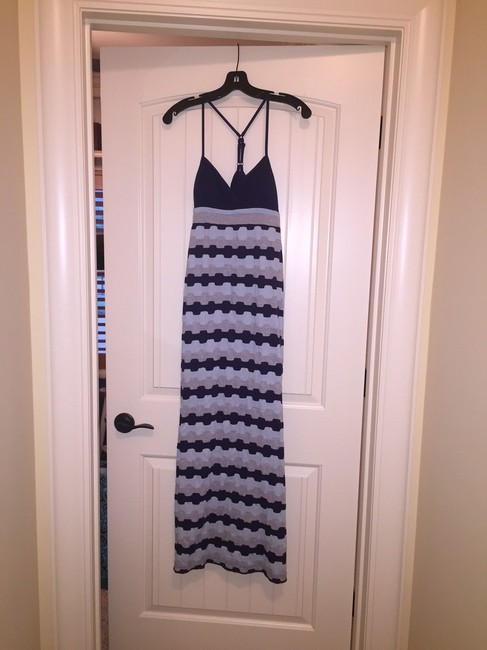 Blues and Grey Maxi Dress by Anthropologie