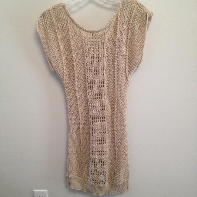 Daytrip Metallic Gold Tunic Sweater