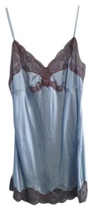 Gold Hawk Silk Tunic Lace Top Soft blue