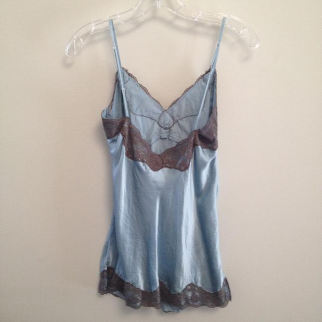 Gold Hawk Silk Tunic Camisole Lace Top Soft blue