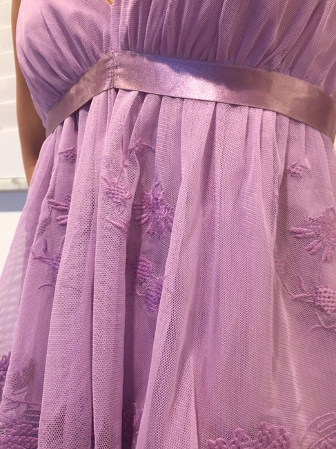 Betsey Johnson Embroidered Top Lilac