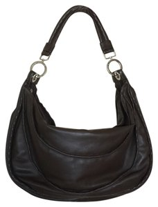 Desmo Made In Italy Leather Zip Purse Like New Topstitching Italian Hobo Bag aec74003a5769