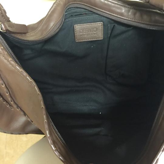 Desmo Made In Italy Leather Purse Like New Topstitching Italian Hobo Bag
