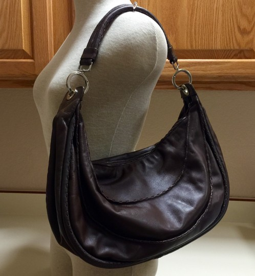 Desmo Made In Italy Leather Zip Purse Like New Topstitching Italian Hobo Bag