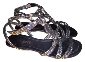 SCHUTZ Silver Metallic Silver/Gold Sandals