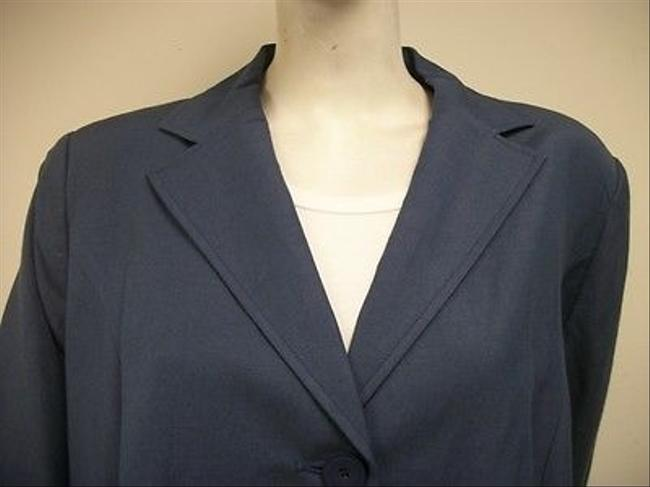 Kate Hill 18w Lapis Linen Blend Style 69951 Blues Jacket