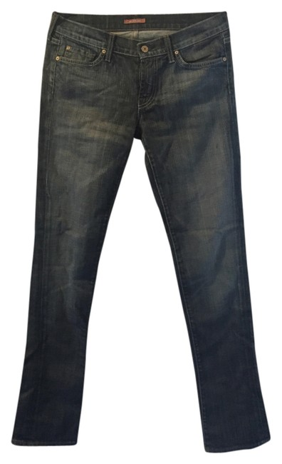 7 For All Mankind Dark Designer Skinny Jeans-Dark Rinse
