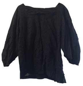 Marc by Marc Jacobs Eyelet Fashion Style Lightweight Details Top Navy Blue