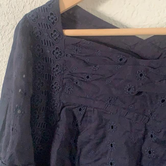 Marc by Marc Jacobs Eyelet Fashion Style Lightweight Details Top Navy Blue Image 2
