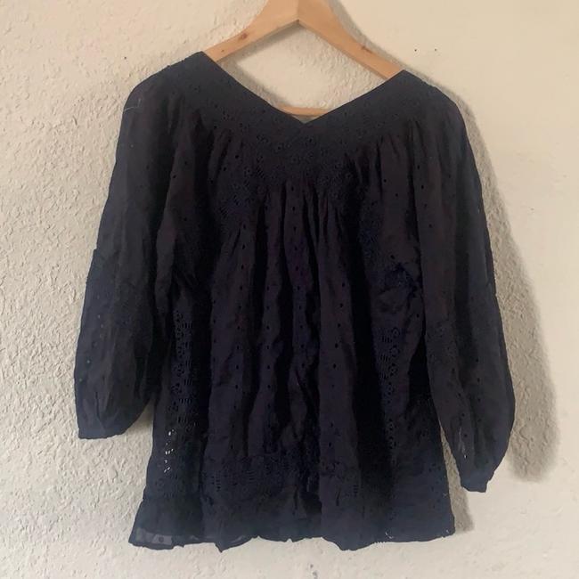 Marc by Marc Jacobs Eyelet Fashion Style Lightweight Details Top Navy Blue Image 4