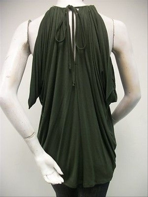 Single Beaded Necklace Olive Style 086s543 Greens Halter Top
