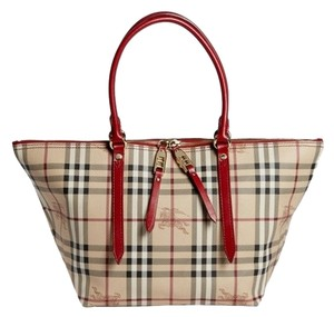 0250d13c473f Burberry Pvc Leaather  Guaranteed Your Money Back Tote in Military Red