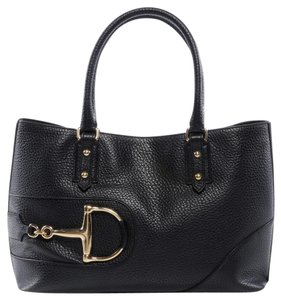 Gucci Leather Horsebit Tote in Black