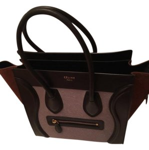 Céline Calf Hair Tote in Lilac/Black/Brown